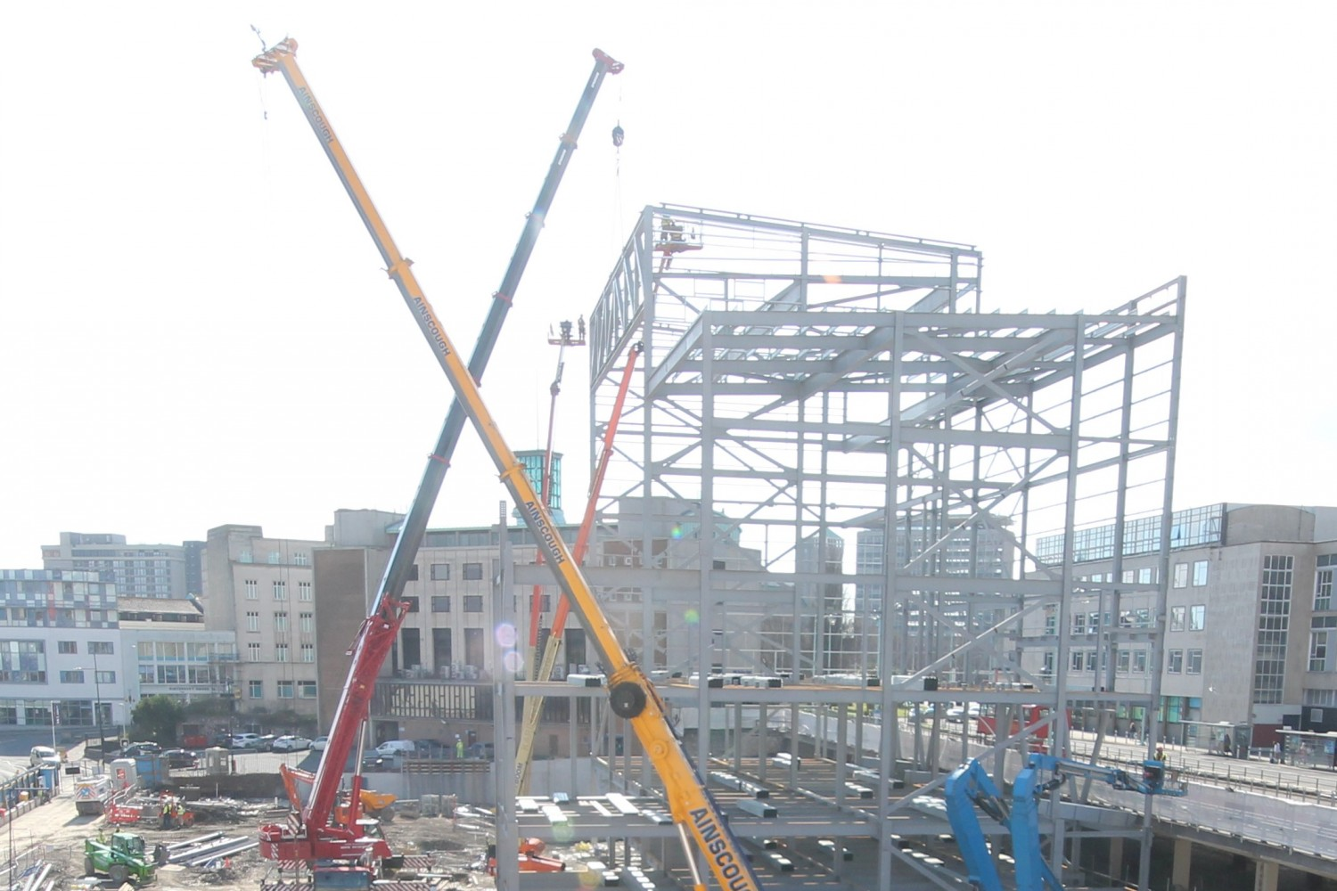 Drake Circus, Plymouth, Construction Site, Truss, British Land, regeneration