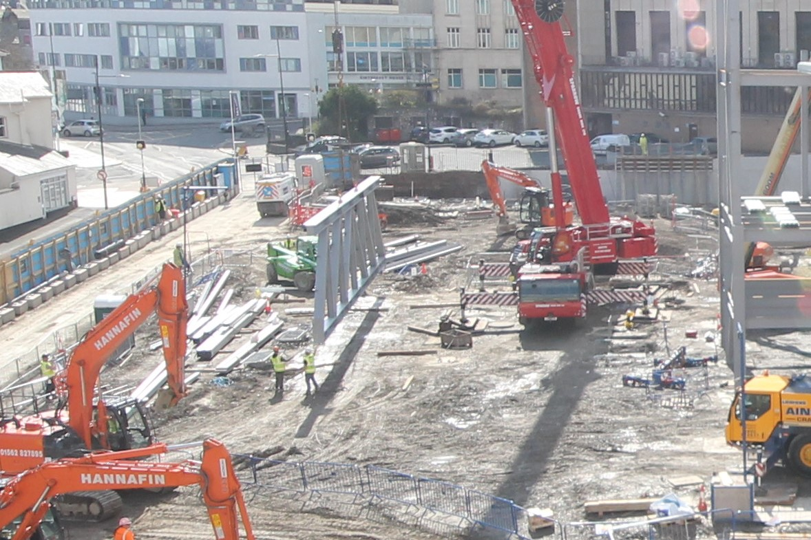 Drake Circus, Plymouth, Construction Site, Truss, British Land