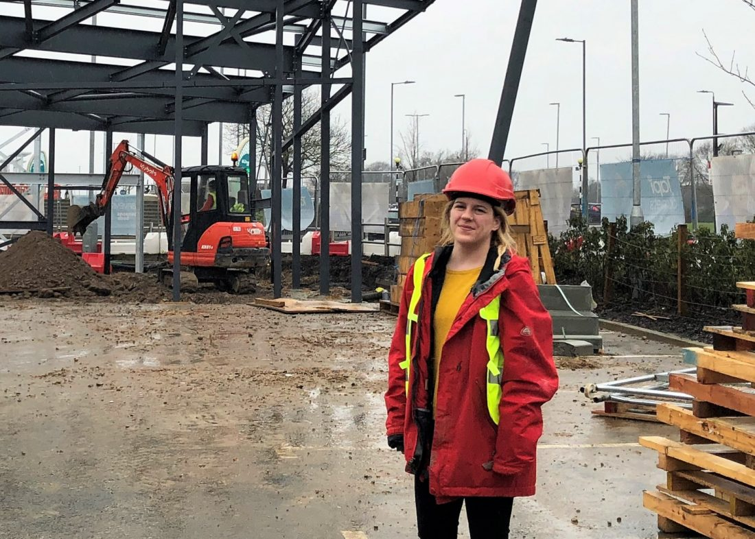 Amy, evolve, construction, site, female, engineer