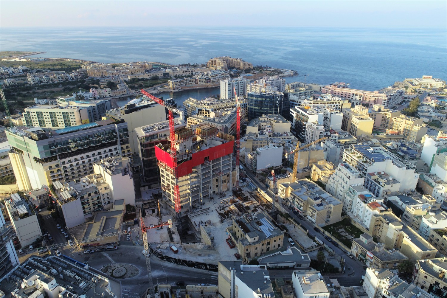 Mercury Tower, Aerial View, Malta