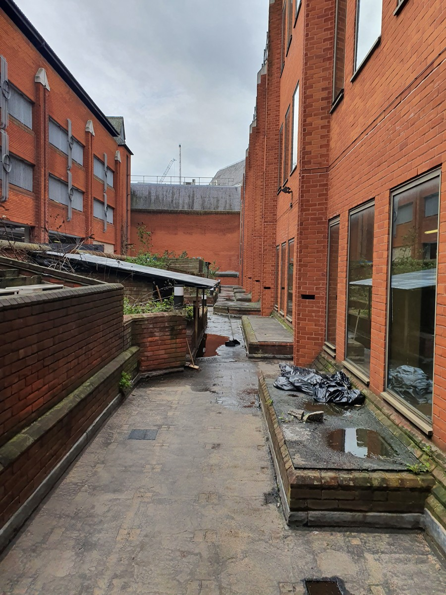 54 The Broadway roof terrace pre-renovation